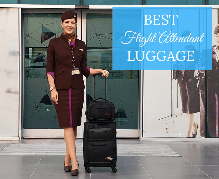 flight attendant with her luggage