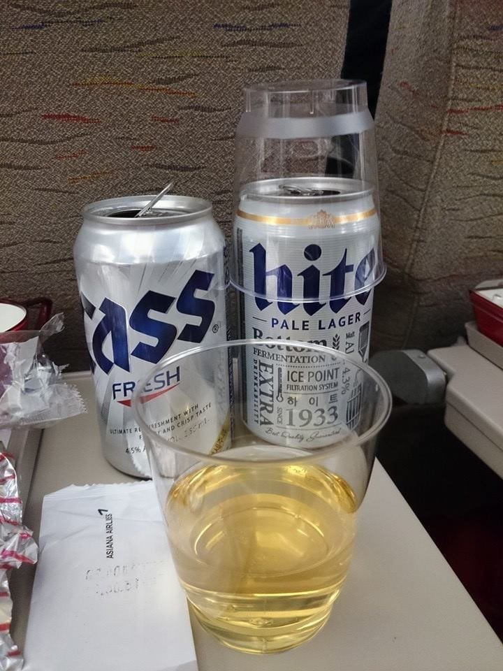 beers- on plane