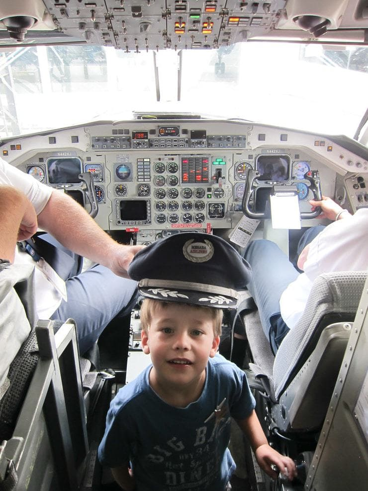 kid in cockpit