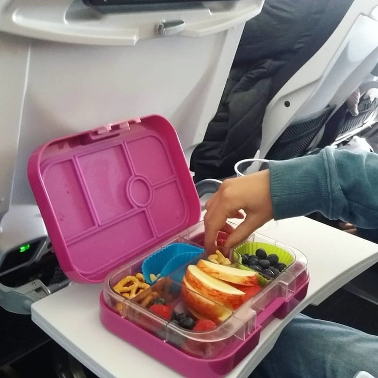 lunch-box on plane