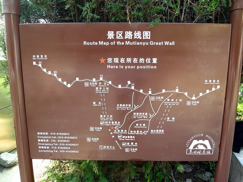 Mutianyu map