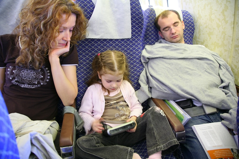 kids playing on a plane