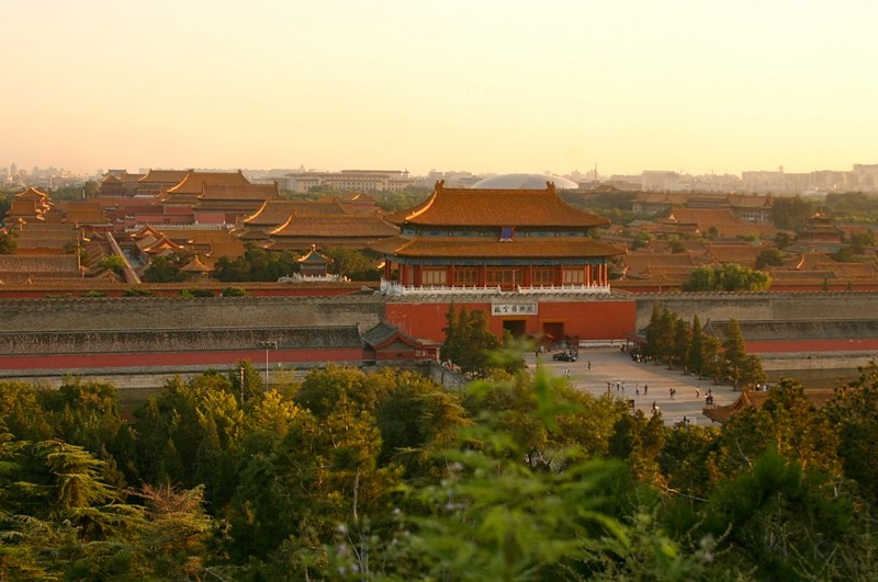 View of Forbidden City at Jingshan Park