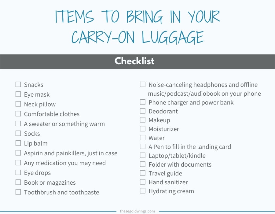 infographics carry-on luggage packing list