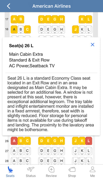seatguru seats color