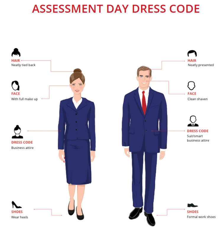 emirates assessment day dress code