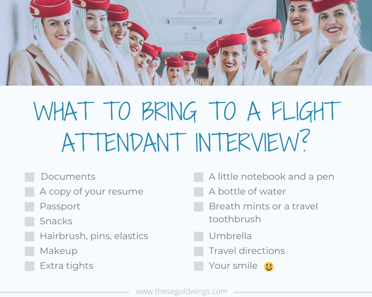 what to bring for flight attendant interview