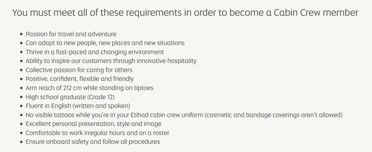 etihad requirements 2020