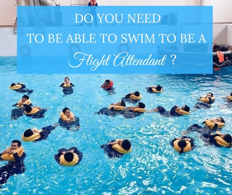 flight attendant ability to swim