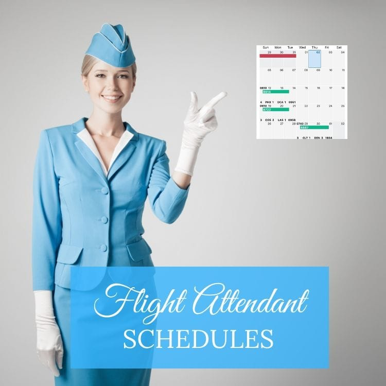 flight attendant schedules