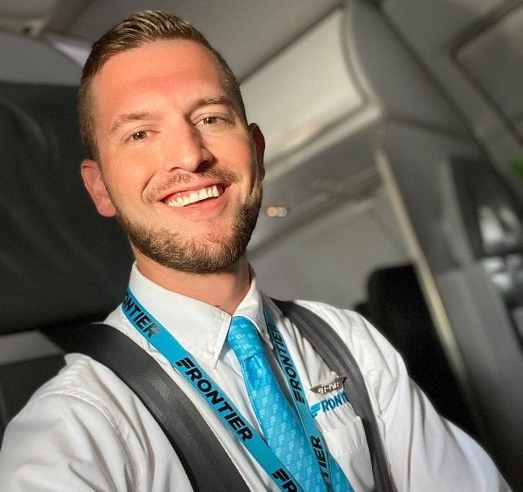 salaru flight attendant frontier airlines