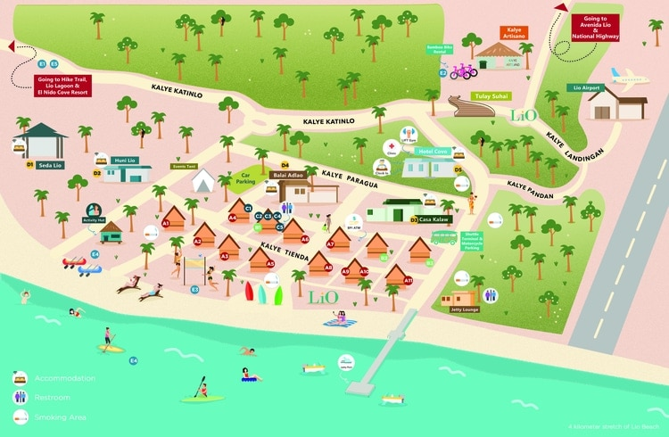lio beach map