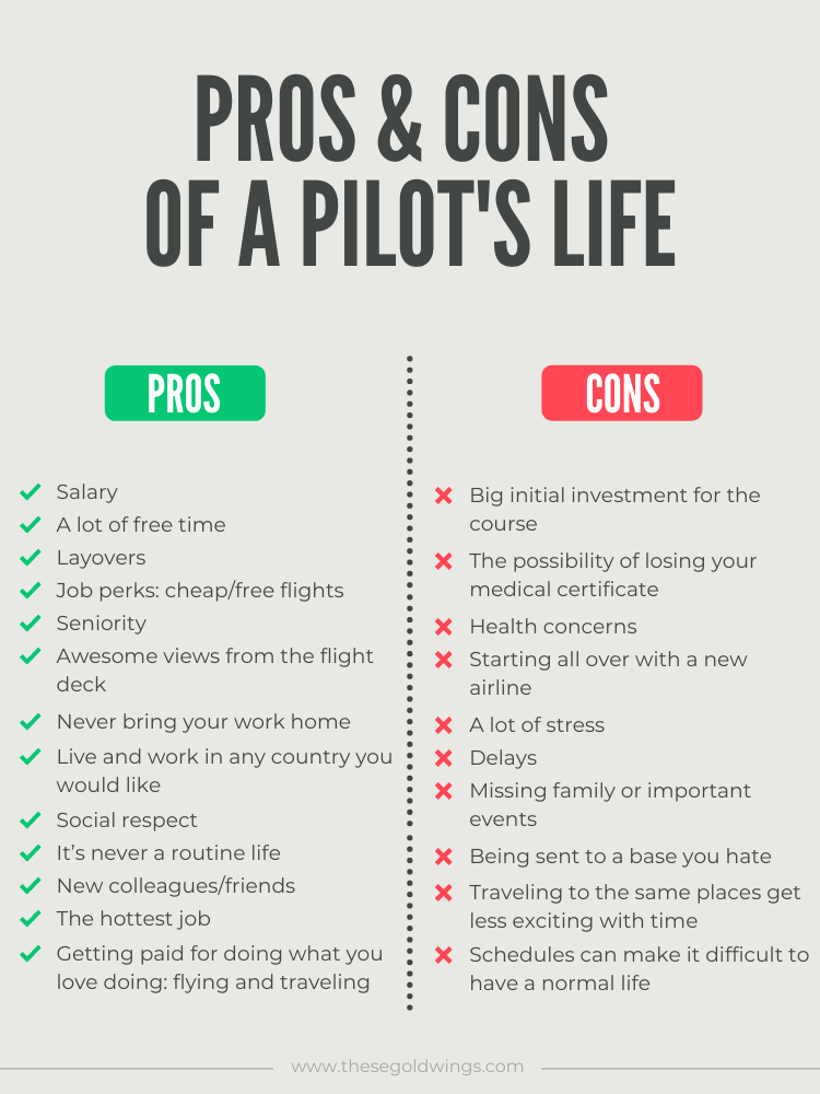 pilots life pros and cons