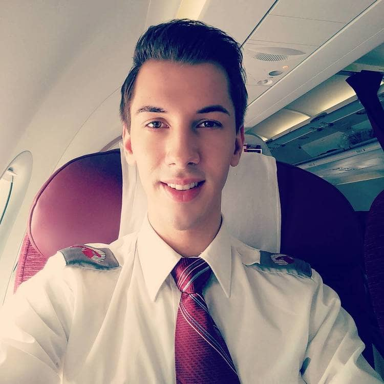 qatar airways male crew uniform