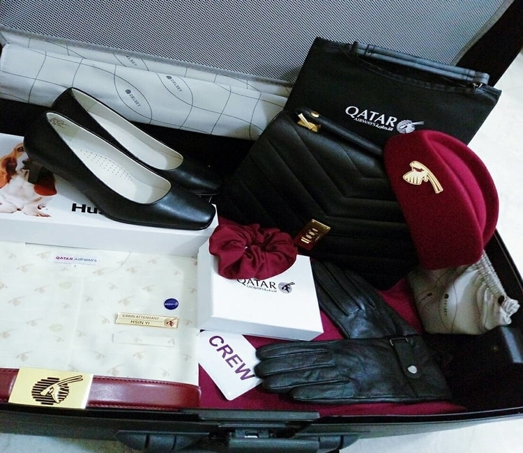 Qatar cabin crew uniform
