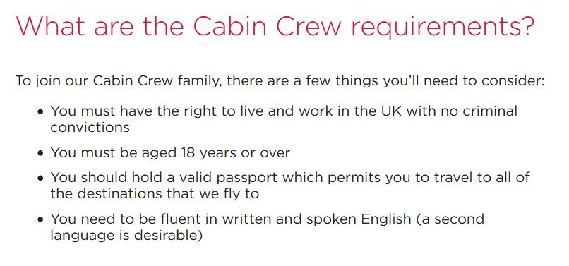 virgin atlantic requirements